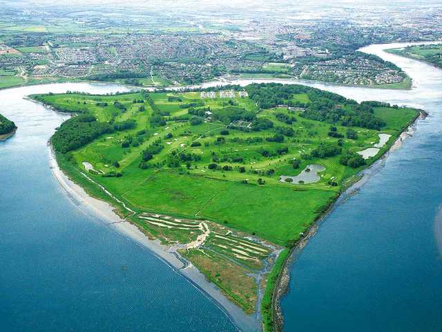 Aerial view of Waterford Castle Golf Club