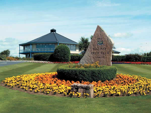 A view of the clubhouse at Galway Golf Club