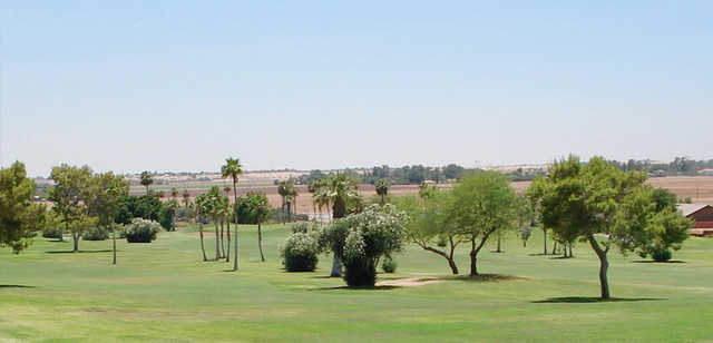 A view of a fairway at Desert Hills Golf Course.