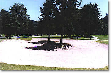 Fairway Bunker on #13 & #14. Hole #14 green can be seen in the distance.