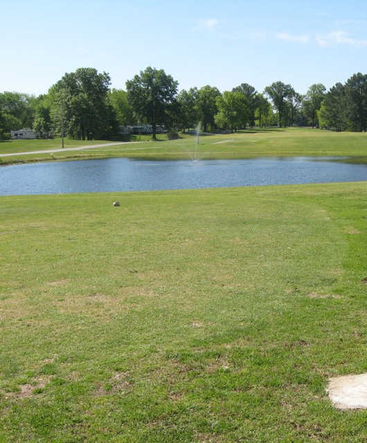 A view from tee #1 at White Oak Golf Course from Marissa Recreation Area