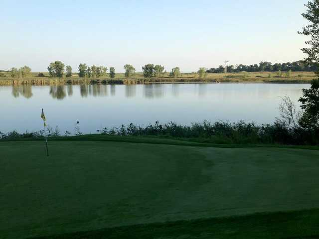 A view of hole #7 with water coming into play at Iron Valley Golf Club
