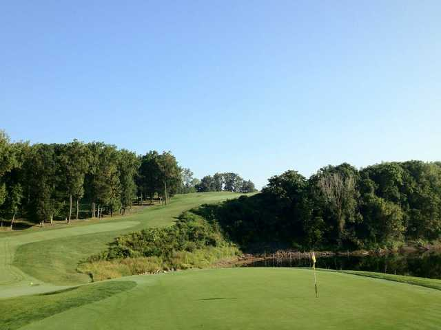 A view of the 13th green at Iron Valley Golf Club