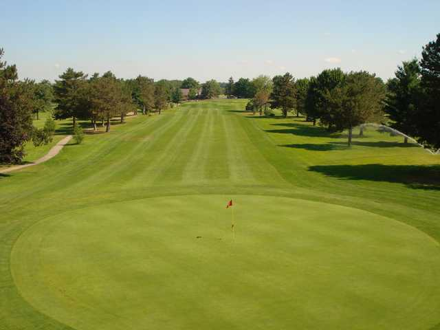 A view of hole #1 at Red from Saskatoon Golf Club.