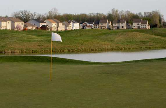 A view of a green with water coming into play from Links at Gateway.