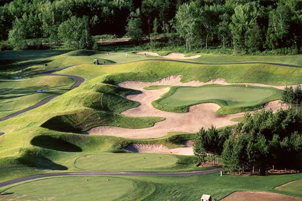 A view of the 10th hole at Golf Manitou.