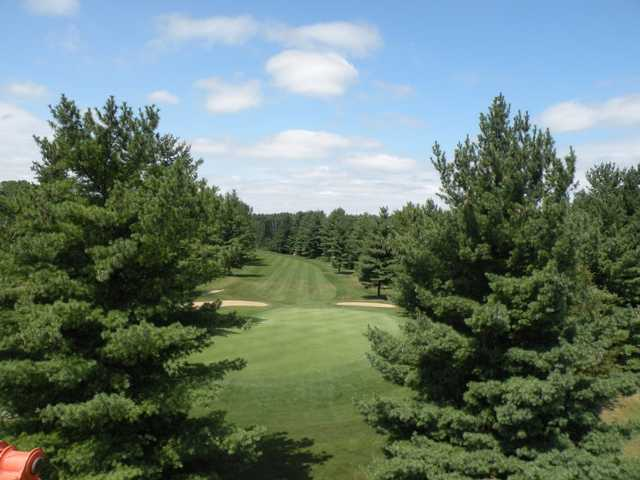 Looking back from the 1st green at Championship at Pine View Golf Course