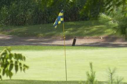 A view of a hole at Pine View Golf Course