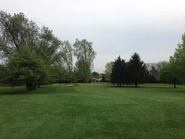 A view of a fairway at Georgetown Country Club