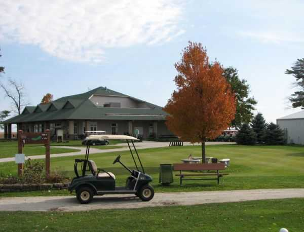 A view of the clubhouse at Manteno Golf Club