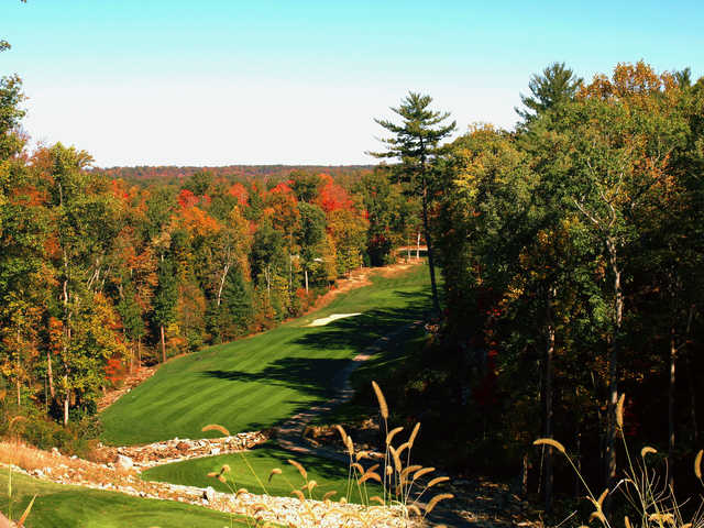 A view of the 17th fairway at Crag Course from Heatherhurst Golf Club