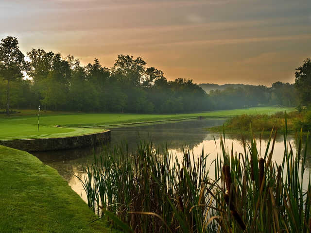 A view of hole #1 at Brae Course from Heatherhurst Golf Club