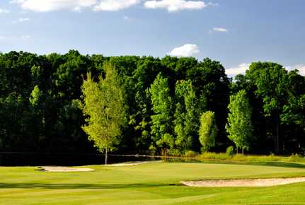 A view of the 2nd hole at Falcon from Pine Knob Golf Club