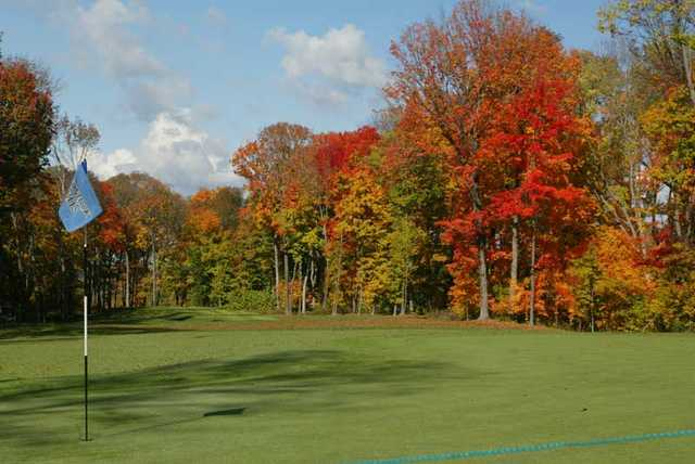 A fall view of the 6th hole at Stonelick Hills Golf Course