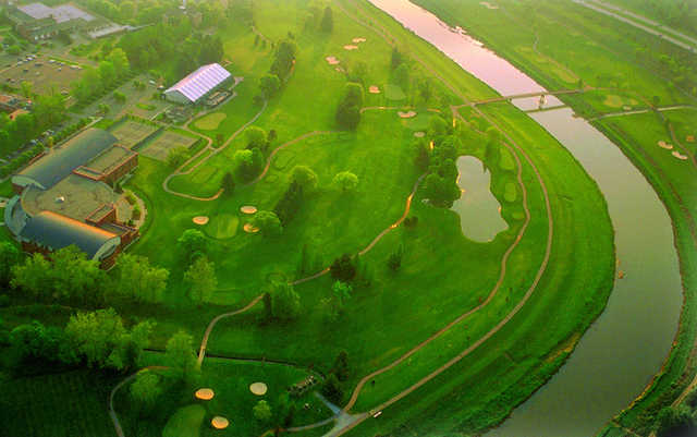 Aerial view from Ohio University Golf Course