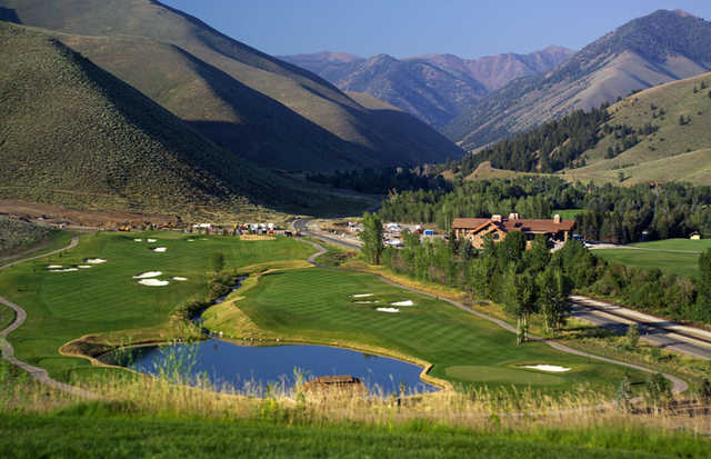 A view of hole #1 and #9 White Clouds at Sun Valley Resort