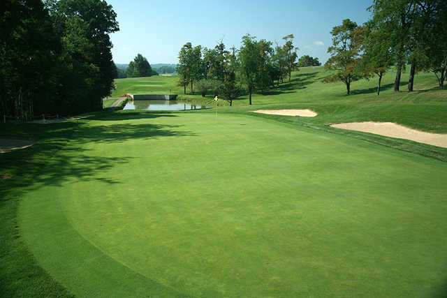 A view of hole #11 at Quicksilver Golf Club