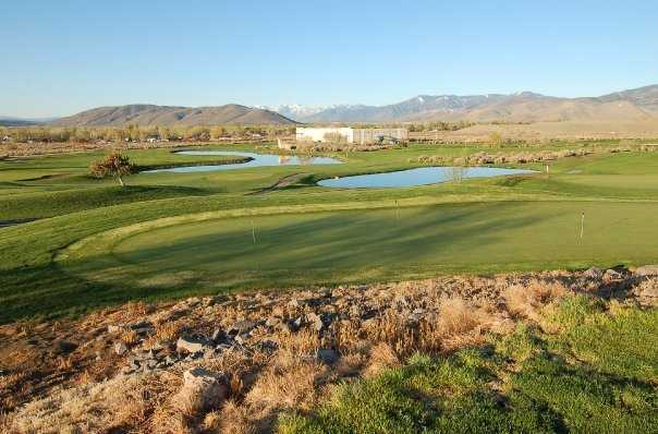 A view of the practice area at Eagle Valley Golf Course
