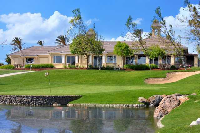 A view of the clubhouse at Rio Vista Golf Club