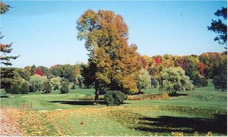 A fall view from Butternut Hills Golf Club