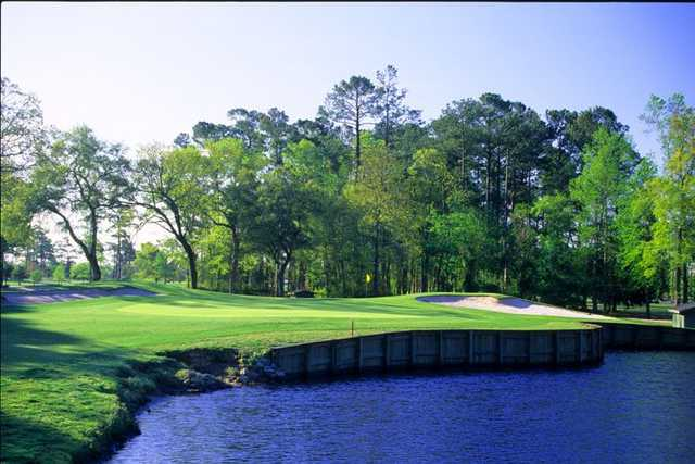 The Lakes nine at Waterway Hills is full of water - view from #5