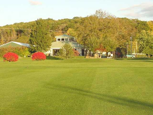 A view of the clubhouse at Chapel Hill Golf Course