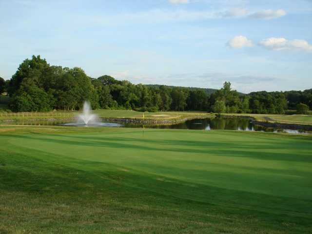 A view of a green with water coming into play at Phillip J. Rotella Memorial Golf Course