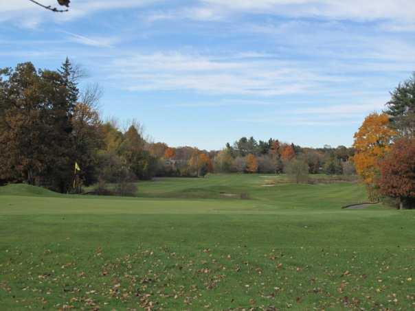 A fall view of a hole at Phillip J. Rotella Memorial Golf Course