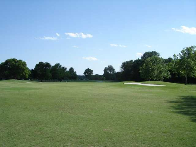 A view of the 6th fairway at Brenham Country Club