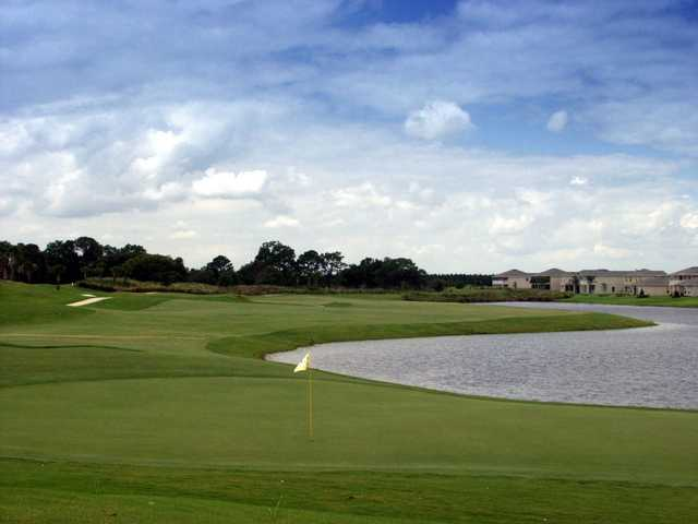 A view of a hole with water coming into play at Stoneybrook West Golf Course.