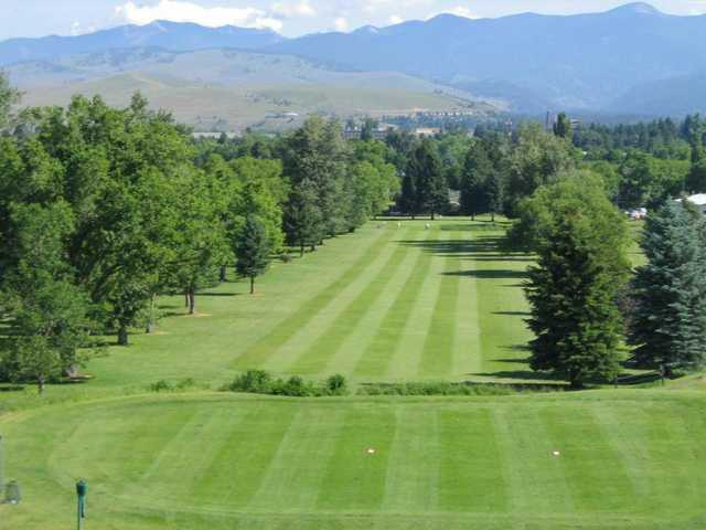 A view from a tee at University of Montana Golf Course