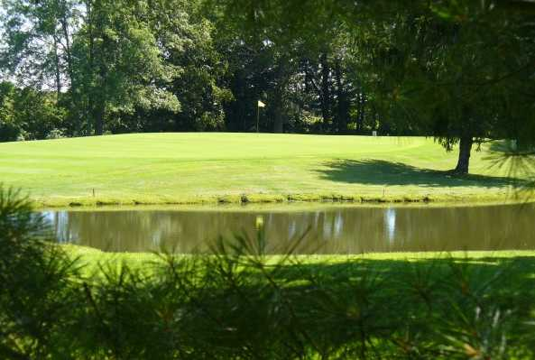 A view over the water from Shelby Country Club