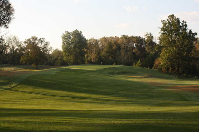 An October view of a fairway at Lake James Golf Club