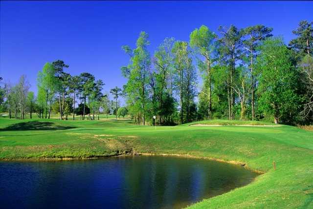 Ravine No. 7 has a green tucked behind a lake at Waterway Hills.