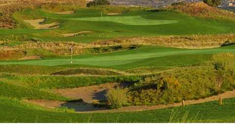 A view of hole #6 and #7 at Black Mesa Golf Club