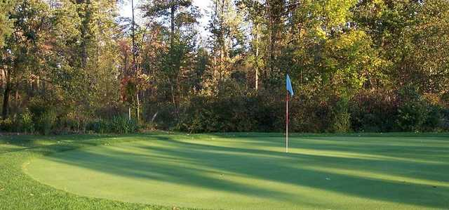 A fall view of a green at Vienna Short Holes Golf Course