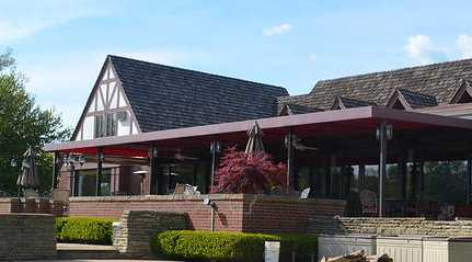 A view of the clubhouse at Trumbull Country Club
