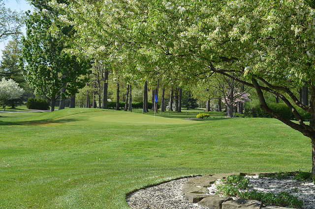 A view of a green at Trumbull Country Club