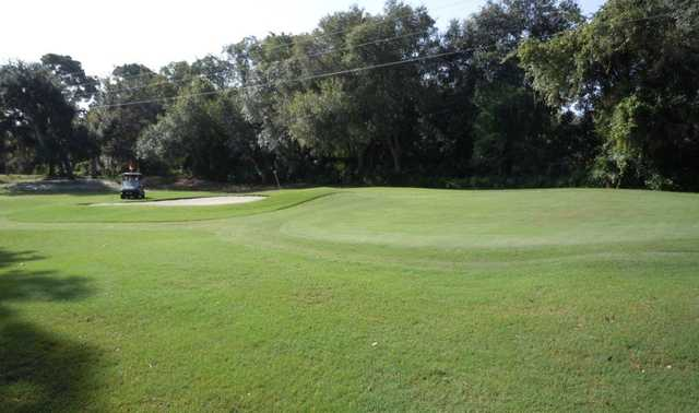 A view of hole #9 at Crystal Lake Club