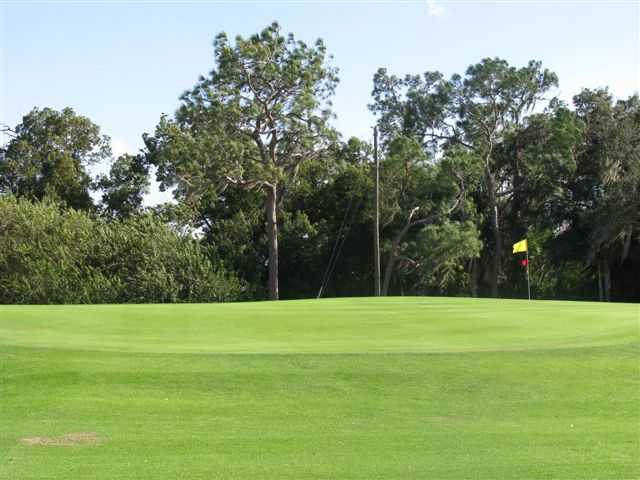 A view of a green at Pinecrest Golf Club