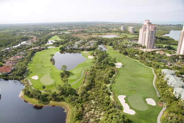 Aerial view from Bonita Bay Club