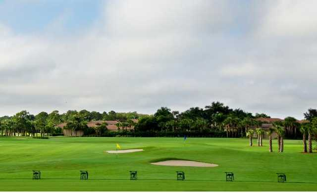 A view of the driving range at Shadow Wood Country Club