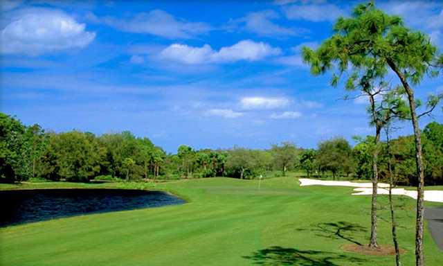 A view of the 5th green at Hurricane Course from Pelican's Nest Golf Club