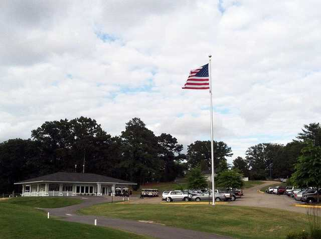 A view of the clubhouse at Providence Golf Course