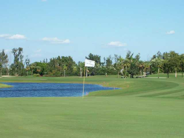 A view of hole #9 at Boca Greens Country Club