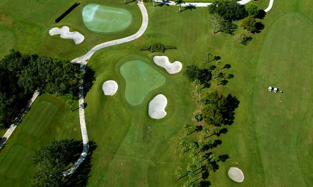 Aerial view from Bocaire Country Club