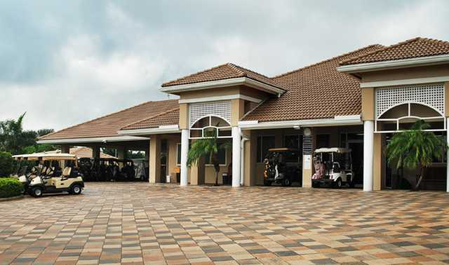 A view of the clubhouse at Bocaire Country Club
