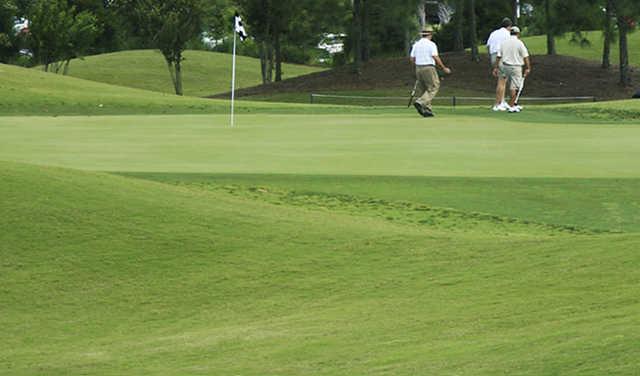 A view of a hole at Sugar Creek Golf Club