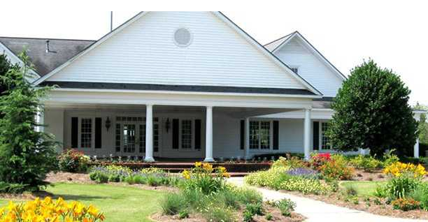 A view of the clubhouse at Bradford Creek Golf Club