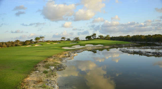 View of a green at El Tinto Golf Course from Cancun Country Club.
